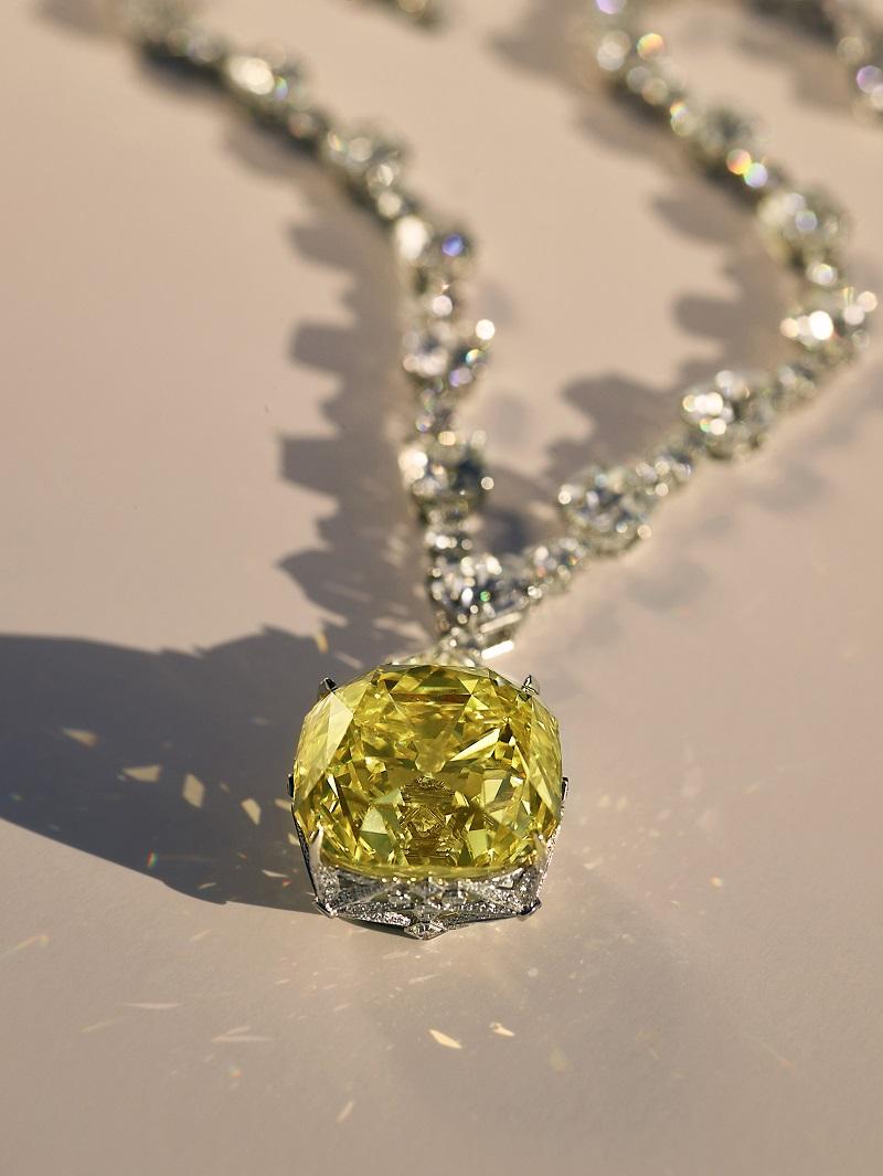 ビヨンセが身につけているティファニーのイエローダイヤモンド