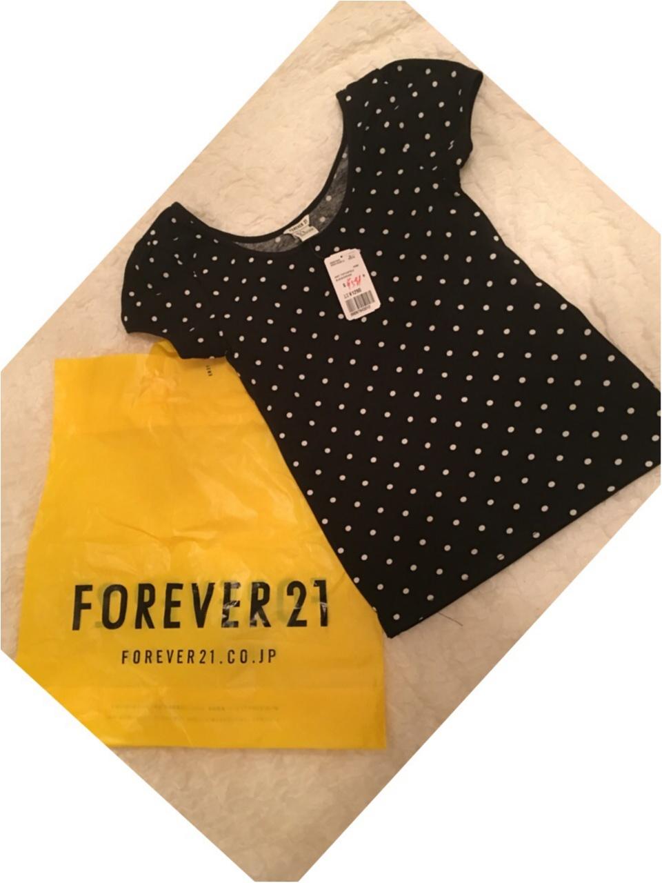 ♡プチプラファッション【forever21】トップスが599円に(°_°)♡モアハピ◡̈のぞみ♡_3