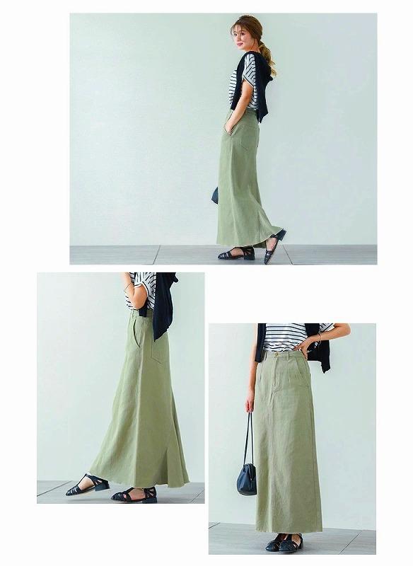 『La-gemme(ラジエム)』のバックフレアタイトスカートを着用した画像