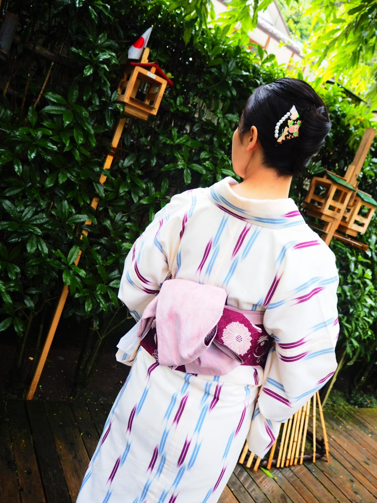 夏着物で鎌倉女子旅♡  紫陽花がとっても綺麗でした♡_3