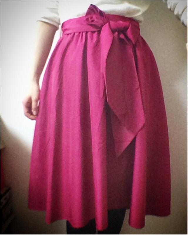 ワントーンじゃ物足りない!マドラスピンクスカートで冬コーデに差し色♡_1