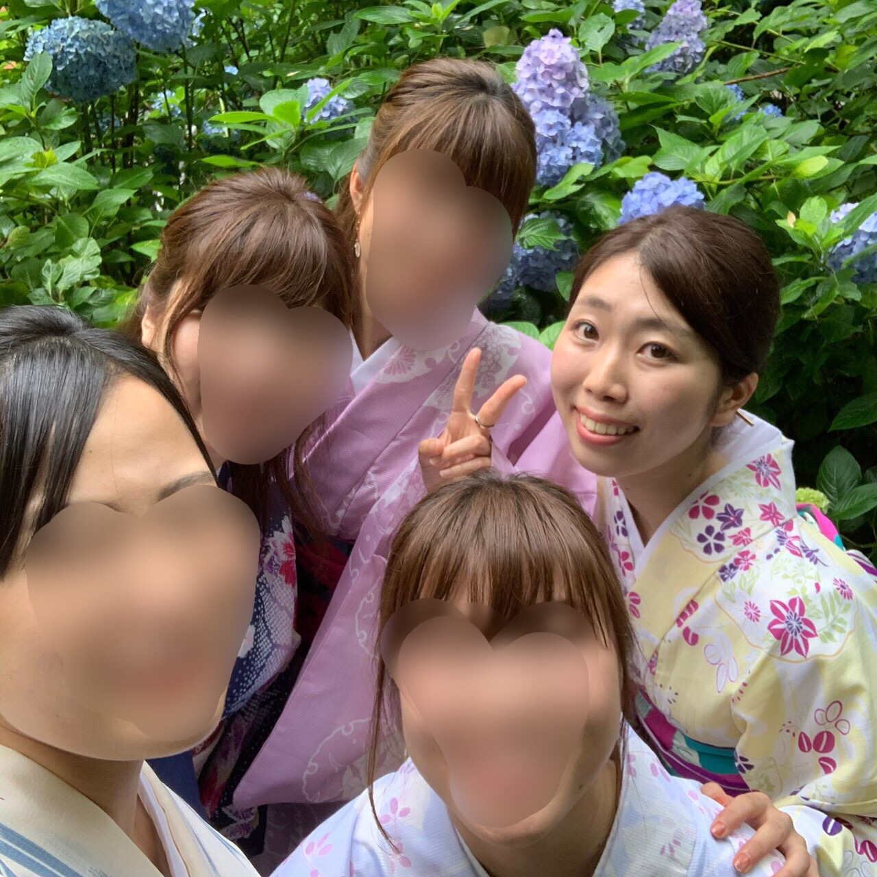 夏着物で鎌倉女子旅♡  紫陽花がとっても綺麗でした♡_9