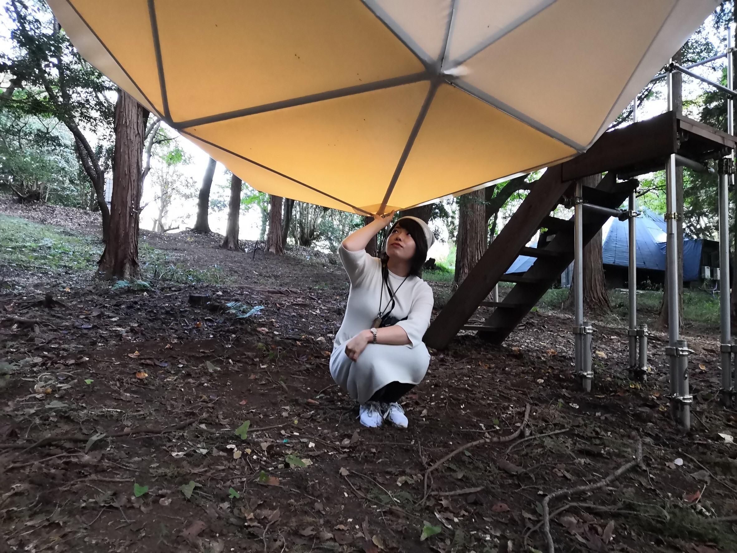 【女子旅におすすめ】森に浮かぶテントに泊まれちゃう♡《INN THE PARK》@沼津_4