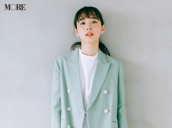 【今日のコーデ】<井桁弘恵>きれい色ジャケットで春の通勤パンツコーデを更新!