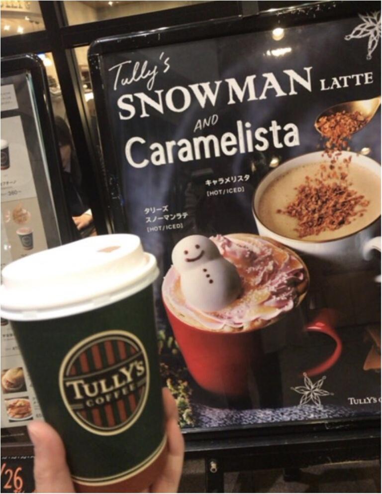 【TULLY'S】今冬もついに登場★マシュマロの雪だるまが浮かぶ《タリーズスノーマンラテ》がピンク色になって登場♡♡_3