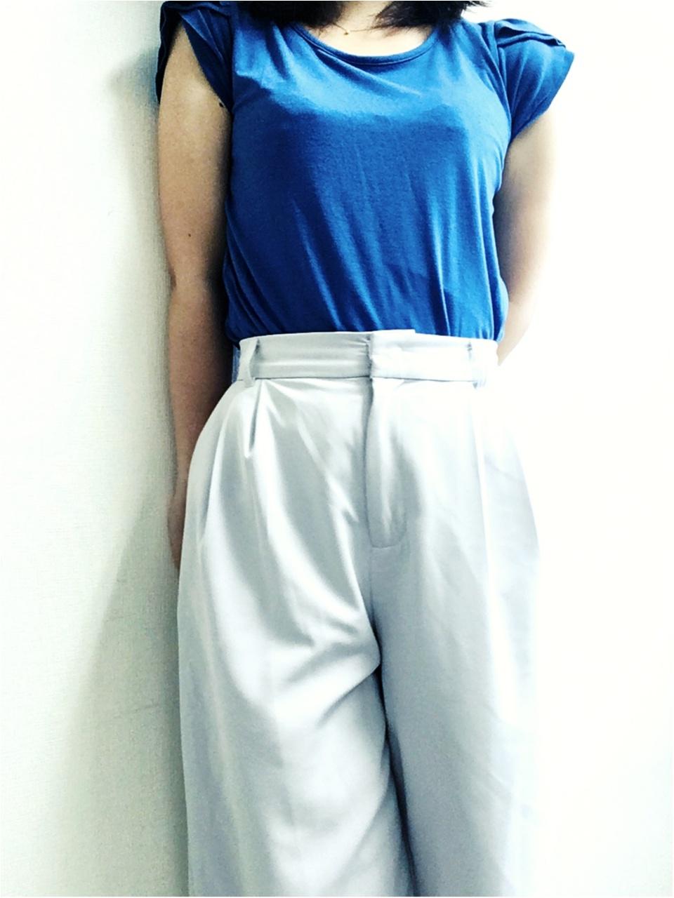 今日のオフィスコーデ★【Fashion】夏はさわやかブルーのトップスで★_8