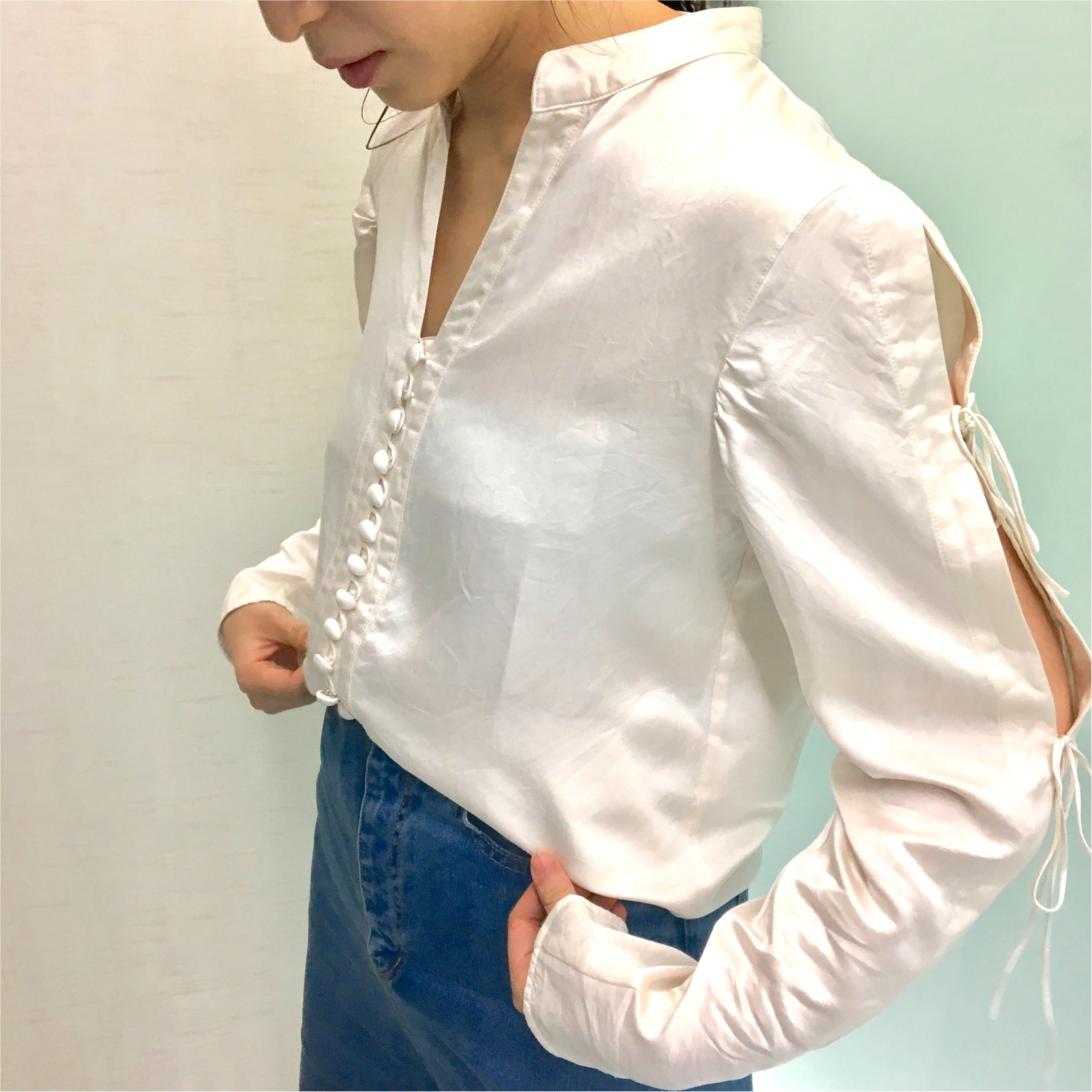 【コレ買っちゃいました!】『mame』のシルクシャツ_1