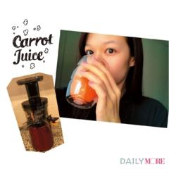 【森絵梨佳のデジレポ。】朝食は、ヘルシー&元気ハツラツな野菜ジュースできまり☆