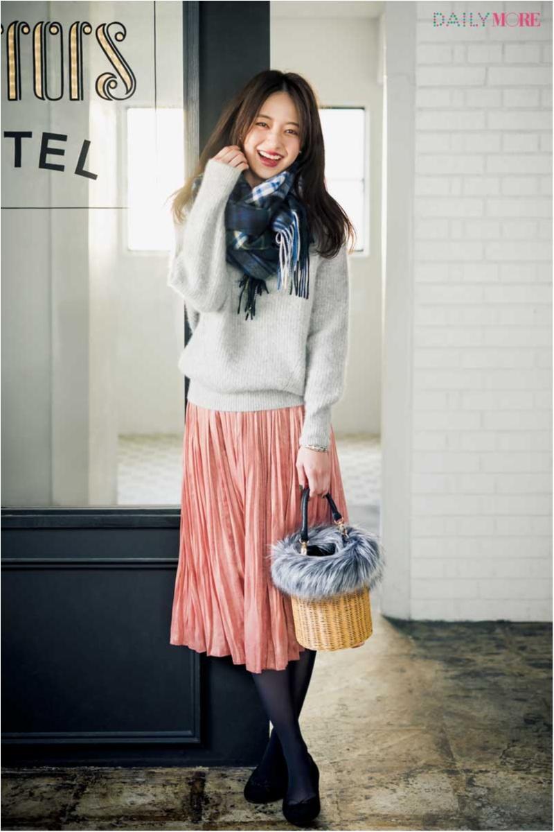 【公式通販GET MORE!】女っぽくて上品で、春まで着回せるんです♪ 『Flower Days』のプリーツスカート最強説!_1