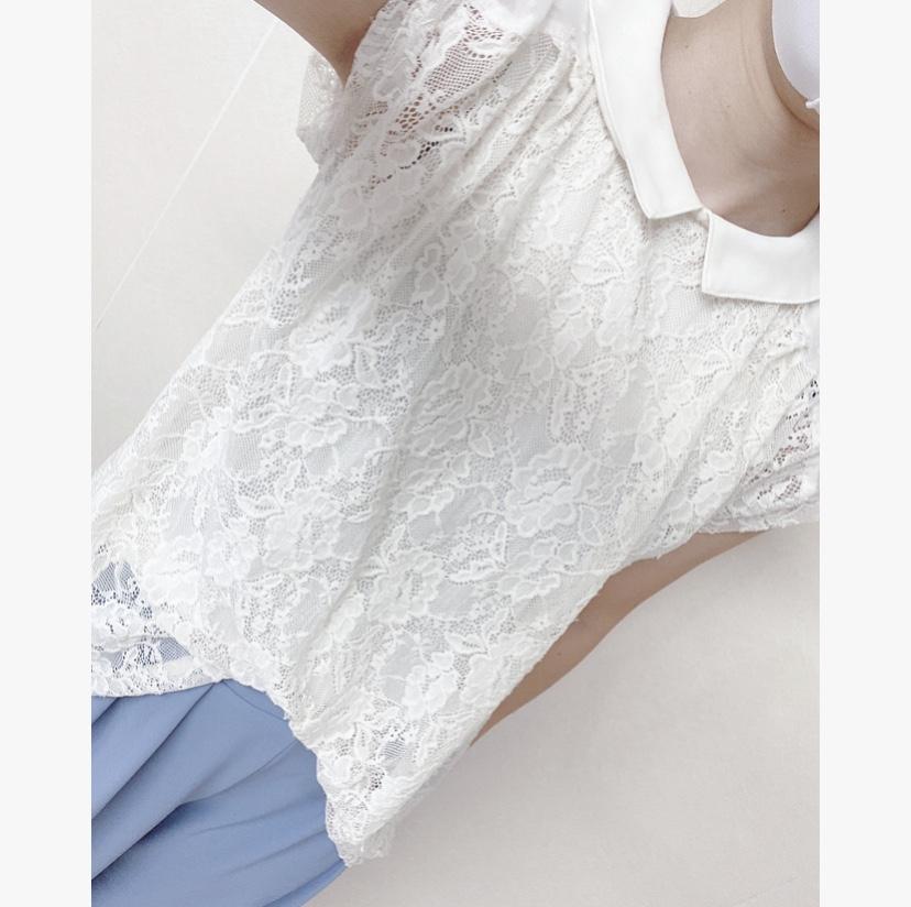 【オフィスコーデ】夏らしさを〜ブルーホワイトorホワイトブルー〜_4