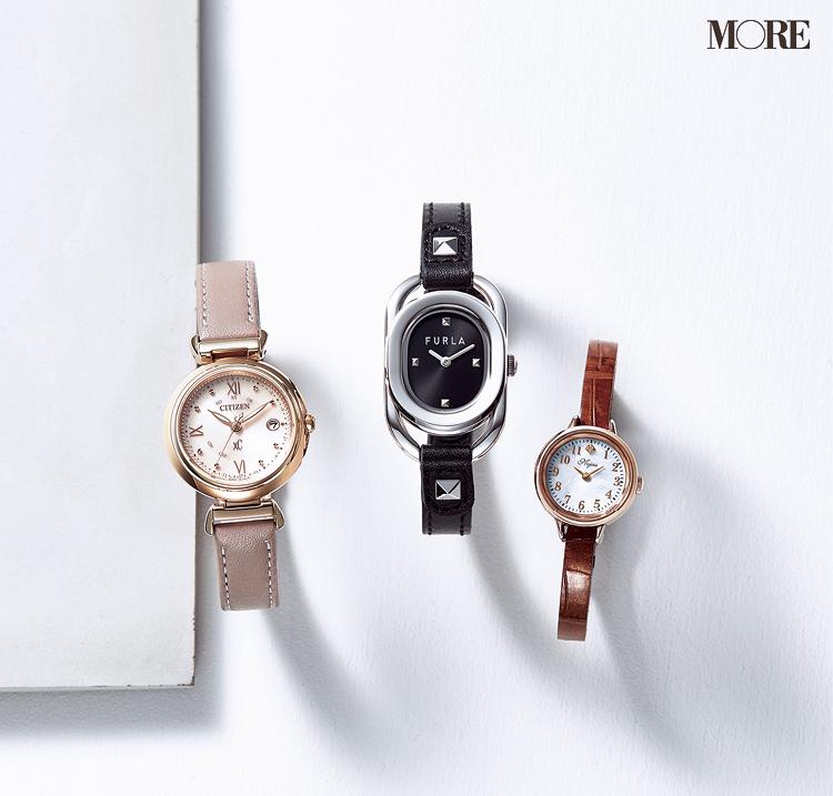 ノジェス、フルラ、シチズンクロスシーのレザーベルト腕時計
