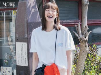 【今日のコーデ】<佐藤栞里>ゆるTシャツと甘いスカートの新鮮コンビでいつものコーデを刷新!