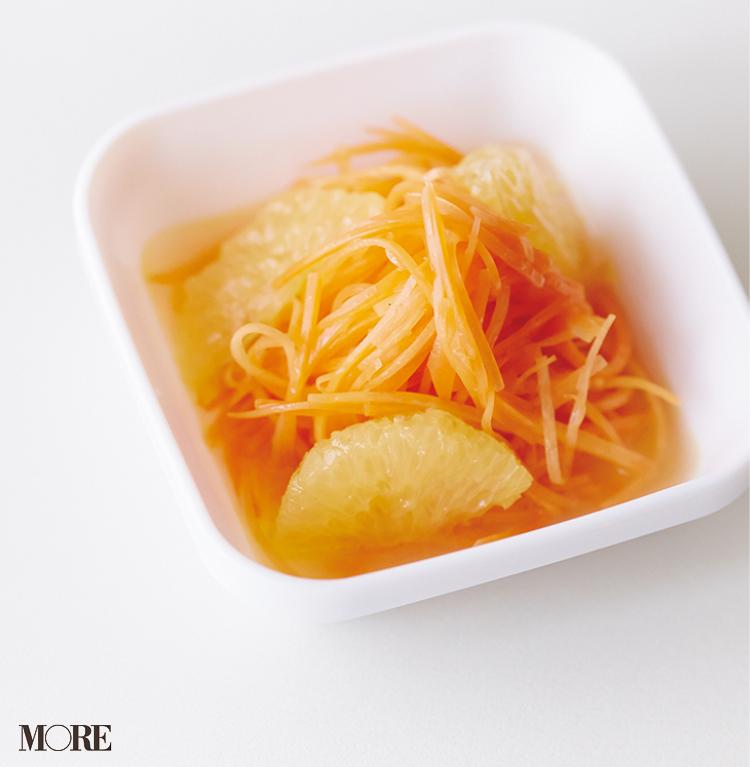 【作り置きお弁当レシピ】簡単!ゆで鶏をちょいアレンジしてリッチなおかずに。副菜のアスパラとにんじんで彩りも◎。_3