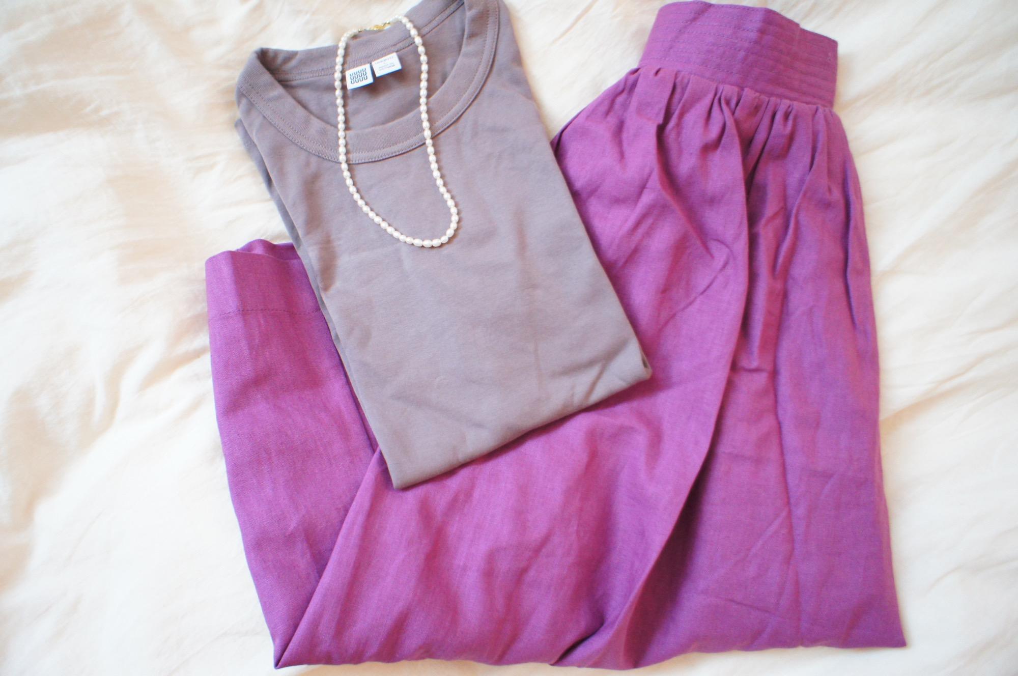 《#170cmトールガール》のプチプラコーデ❤️【MORE本誌にも掲載!】¥2,990+税のラベンダーカラースカートが使える☻_3