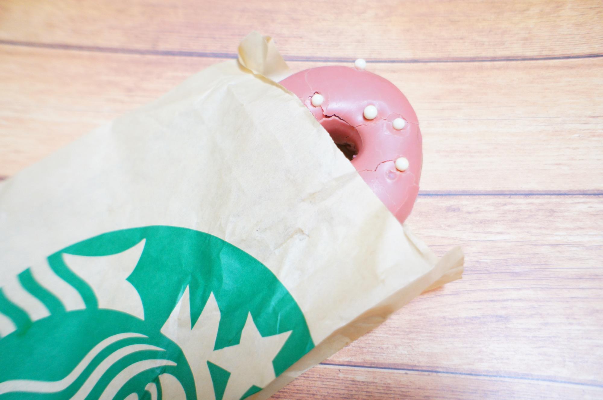 《レジ横foodに注目❤️》【スタバ】ベリーソースドーナツが美味しい☻!_3