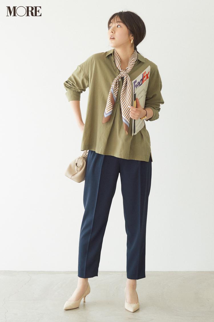 【今日のコーデ】<唐田えりか>王道のパンツコーデはこなれたスキッパーシャツで脱コンサバ見え!_1