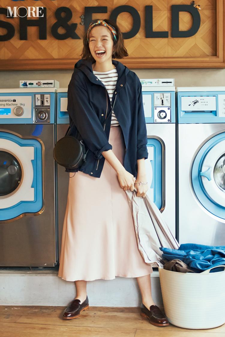 【今日のコーデ】休日返上で冬服整理! きれいめスカート+マウンパで可愛げなご近所コーデに♪ <佐藤栞里>_1