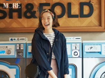 【今日のコーデ】休日返上で冬服整理! きれいめスカート+マウンパで可愛げなご近所コーデに♪ <佐藤栞里>