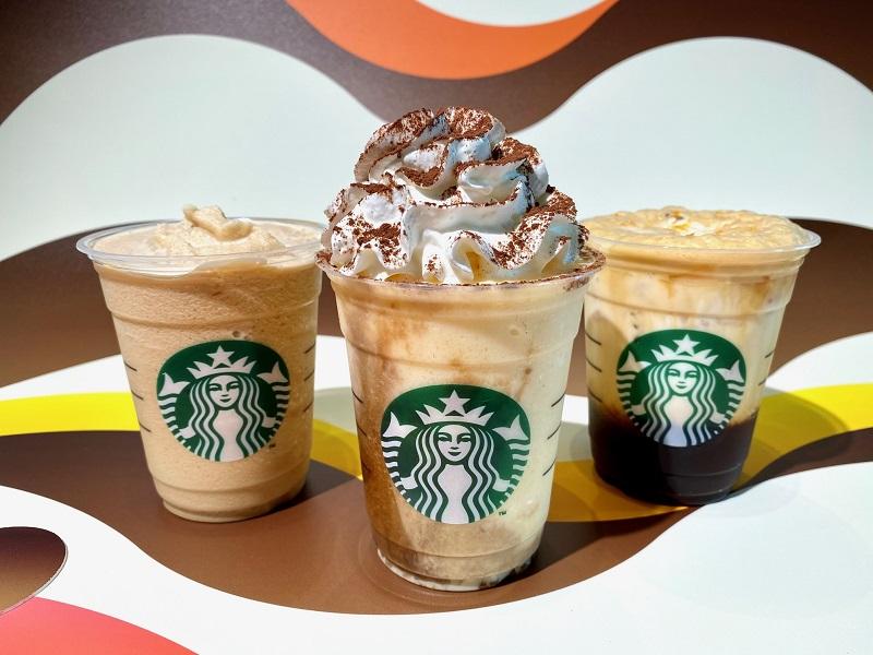 """【スタバ 新作】""""LOVE COFFEE""""をテーマにした「コーヒー ティラミス フラペチーノ」「コールドブリュー コーヒー フラペチーノ」「ダブル トール ラテ シェケラート」"""