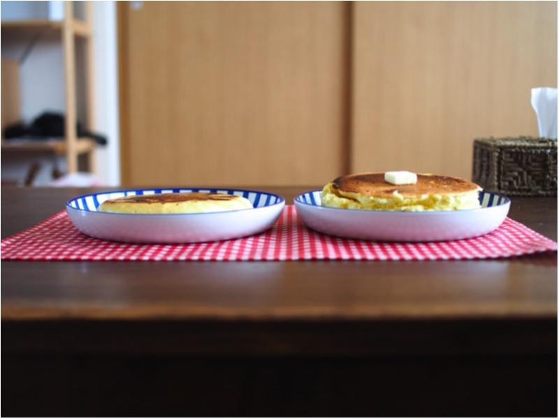 いつもの工程を1つ変えるだけ。cafeみたいな厚くてふわふわホットケーキがお家で食べられる(412あみ)_4