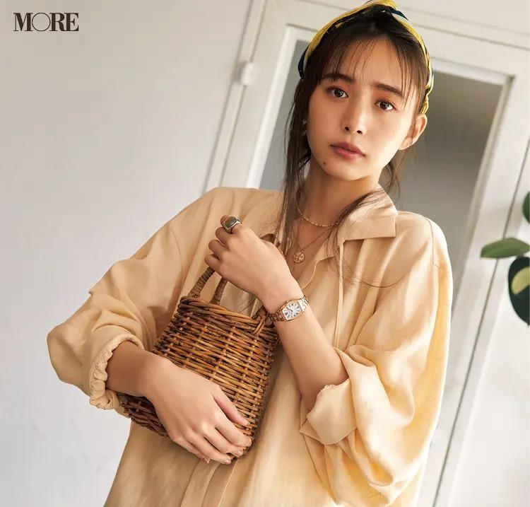 SEIKO LUKIA(セイコー ルキア)の腕時計を付けた井桁弘恵