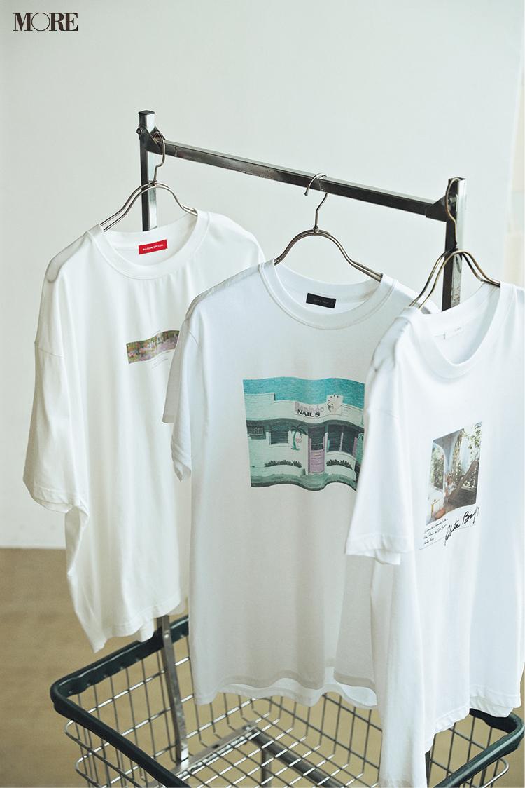 気持ちが開放される白い服。今夏の狙い目はフォトTとワンピースだ!_4