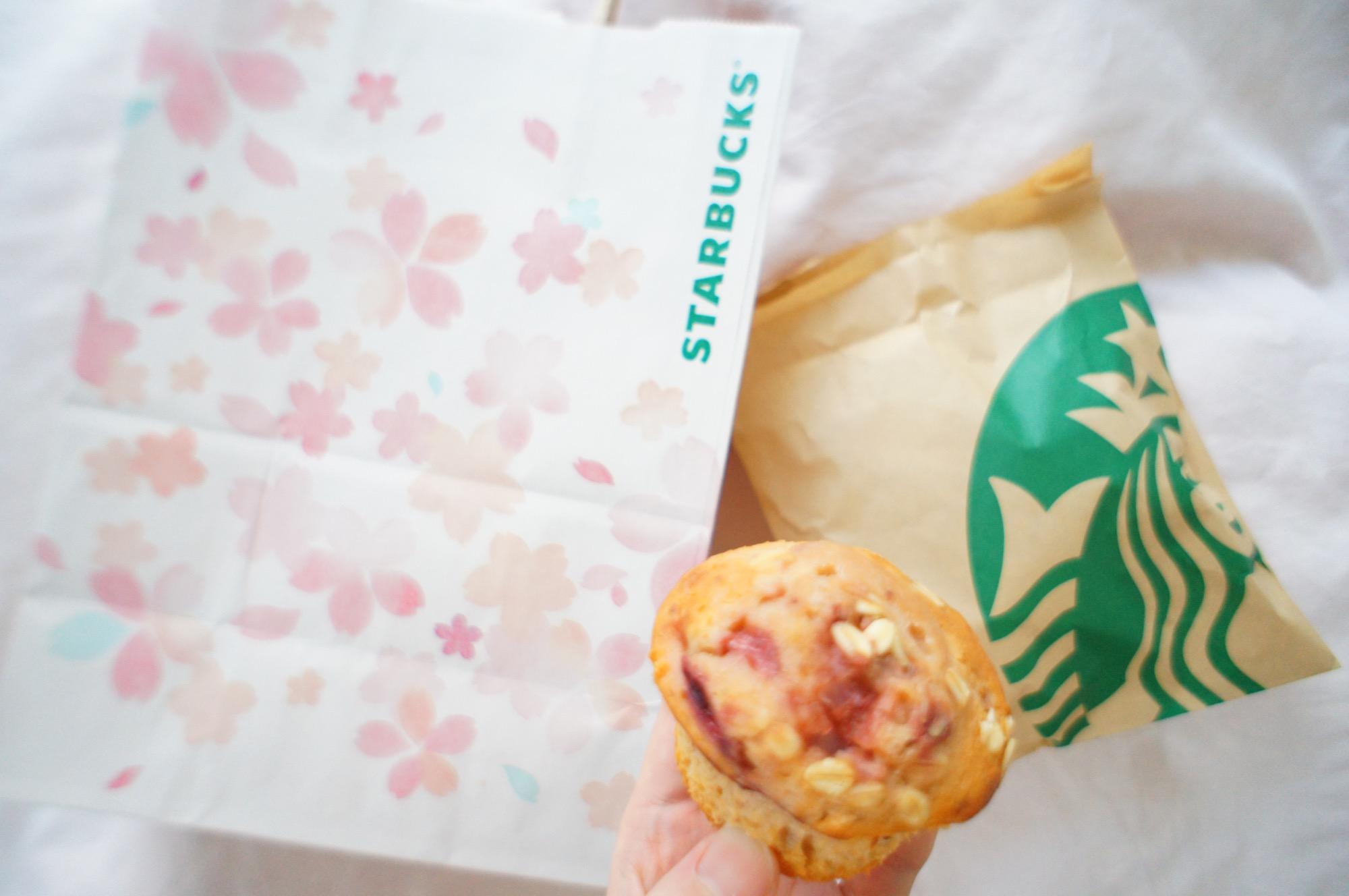 《レジ横foodに注目❤️》期間限定!【スタバ】ストロベリーとオートミールのマフィン☻_2