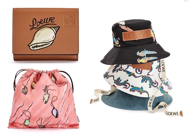 ロエベ「パウラズイビザ」の財布、ポーチ、ハット