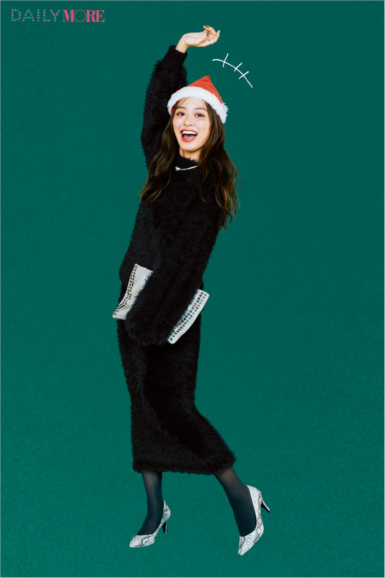 【今日のコーデ/内田理央】仲間で集まるクリスマスイヴは女っぽブラックで差をつけて♪_1