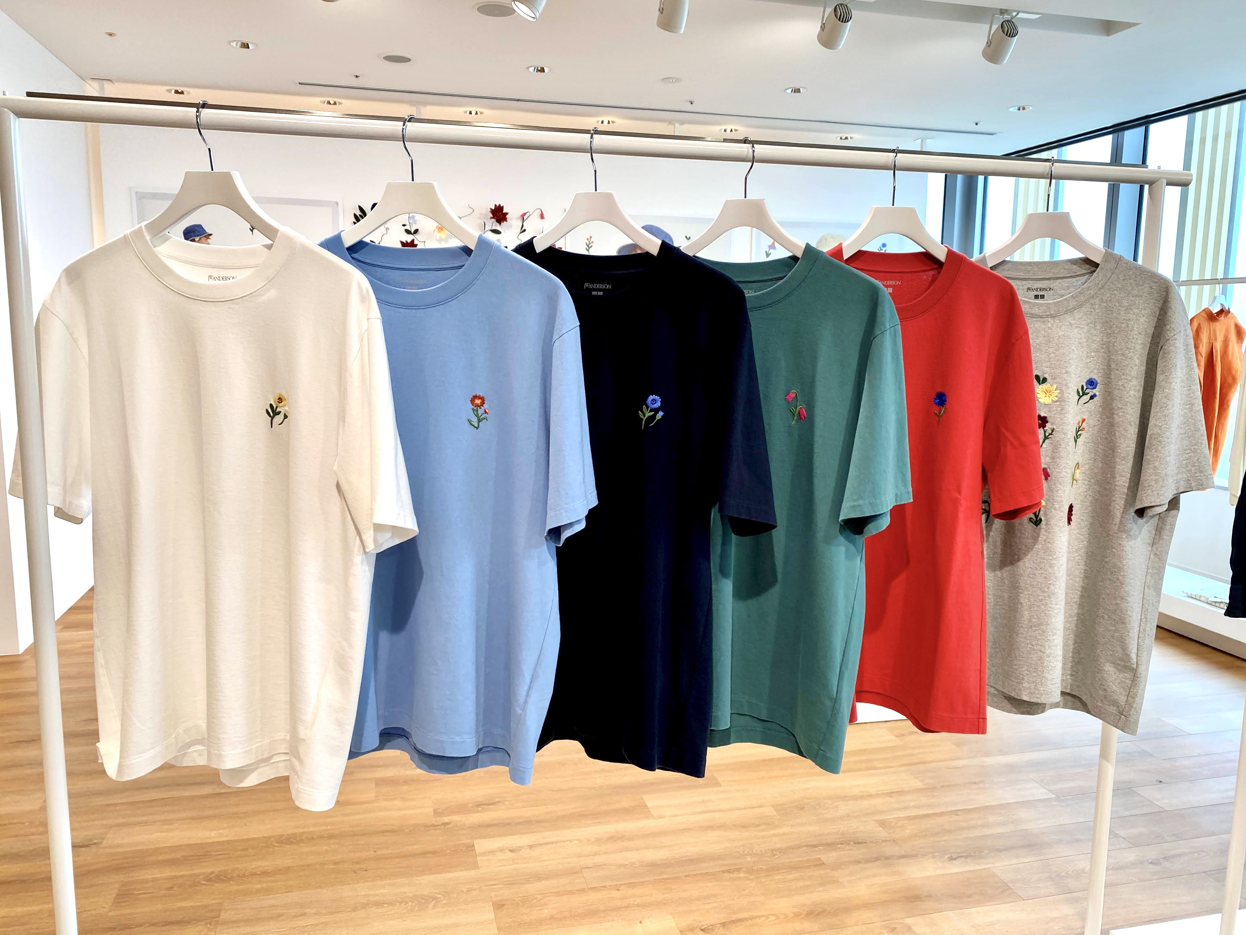 ユニクロ&JWアンダーソンのメンズクルーネックTシャツ