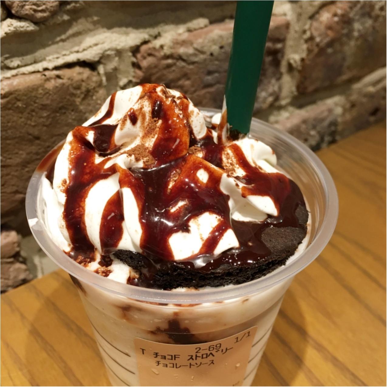 【7月23日まで】スタバに行かなくっちゃ♡ 期間限定のチョコレートケーキトップフラペチーノwithストロベリーショットが登場 ♡♡_3