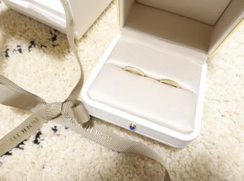 《プレ花嫁の結婚式準備》結婚指輪をGETしました!