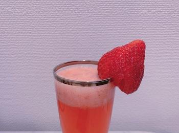 三ツ矢サイダーで作る!苺ジュースの作り方♡