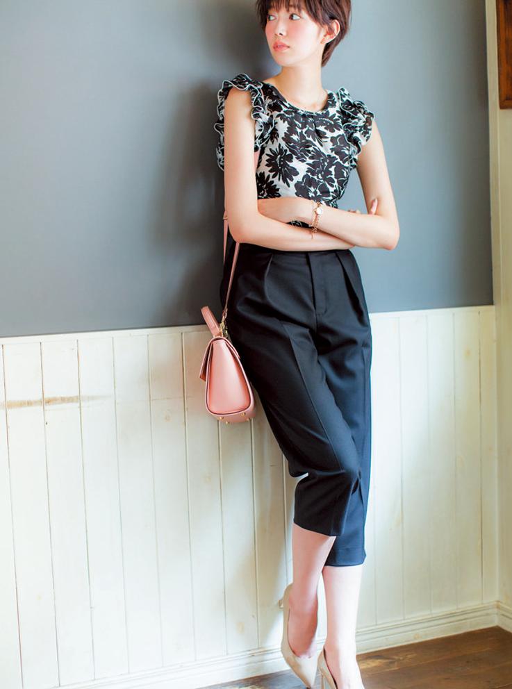 【今日のコーデ】お盆明けの月曜日は、美人なパンツスタイルで仕事モードに気分を切り替え!_1