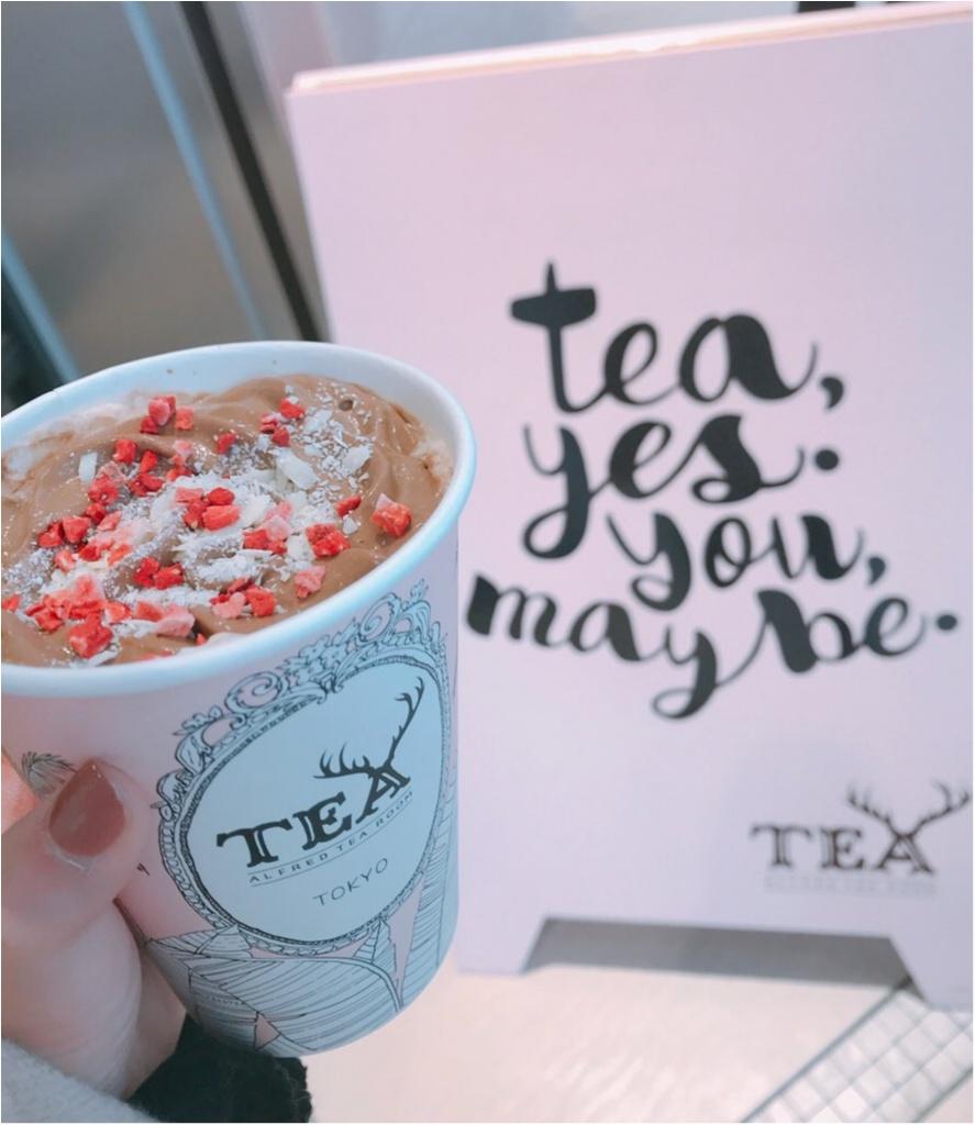 【ALFRED TEA ROOM】のバレンタインドリンク《ウィンターギフトティー》が可愛すぎる♡♡チョコっと大人なミルクティーが美味❤︎_6
