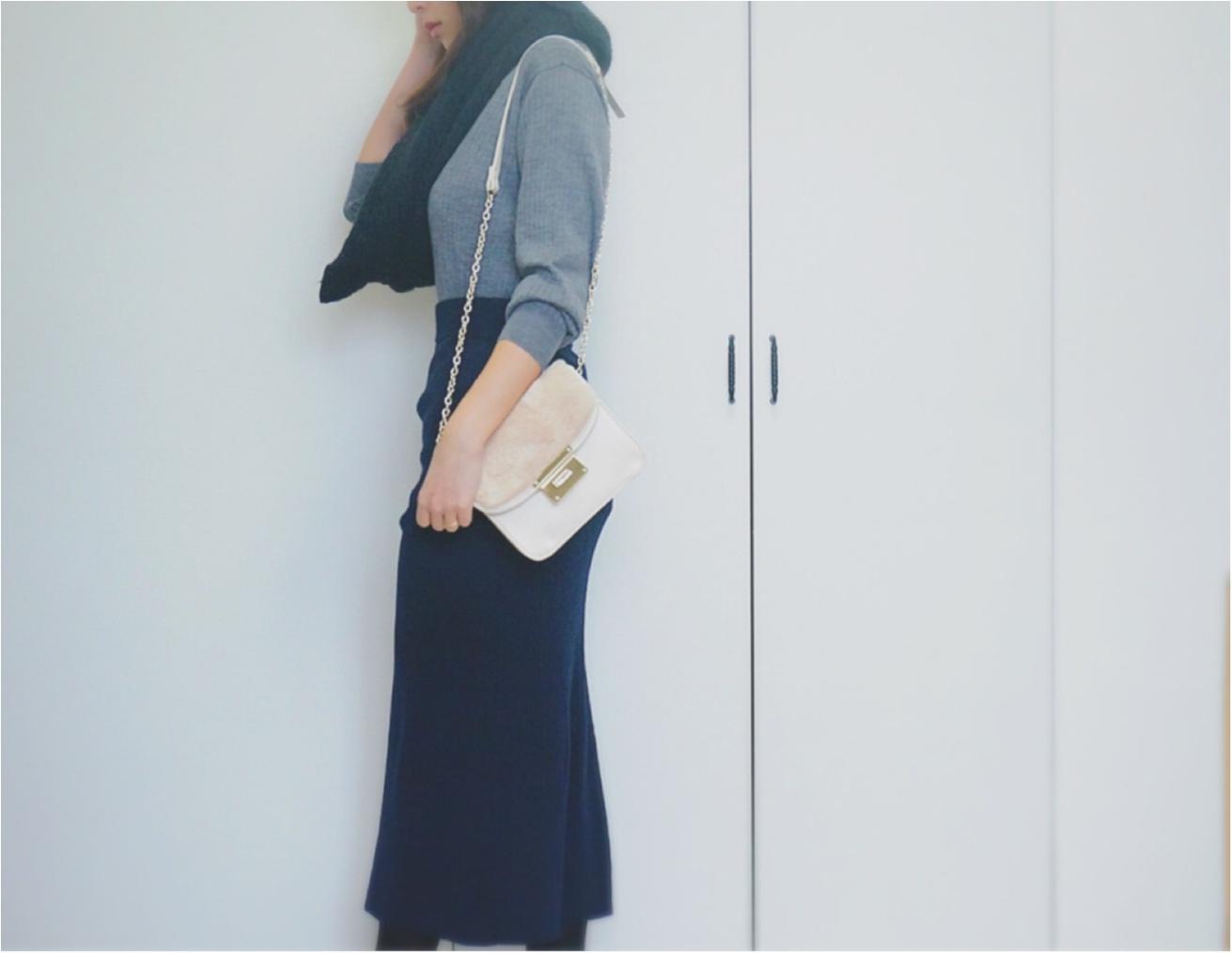 """大大ヒット❤️【UNIQLO】""""メリノブレンドリブスカート""""がついに限定価格に!今なら¥3980で叶う《ニットアップ》コーデ❤️_9"""