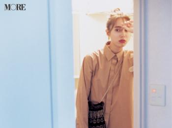 【今日のコーデ】<土屋巴瑞季>ロングシャツが着たい日はボタンを上まで留めて着こなしバランスを一新!
