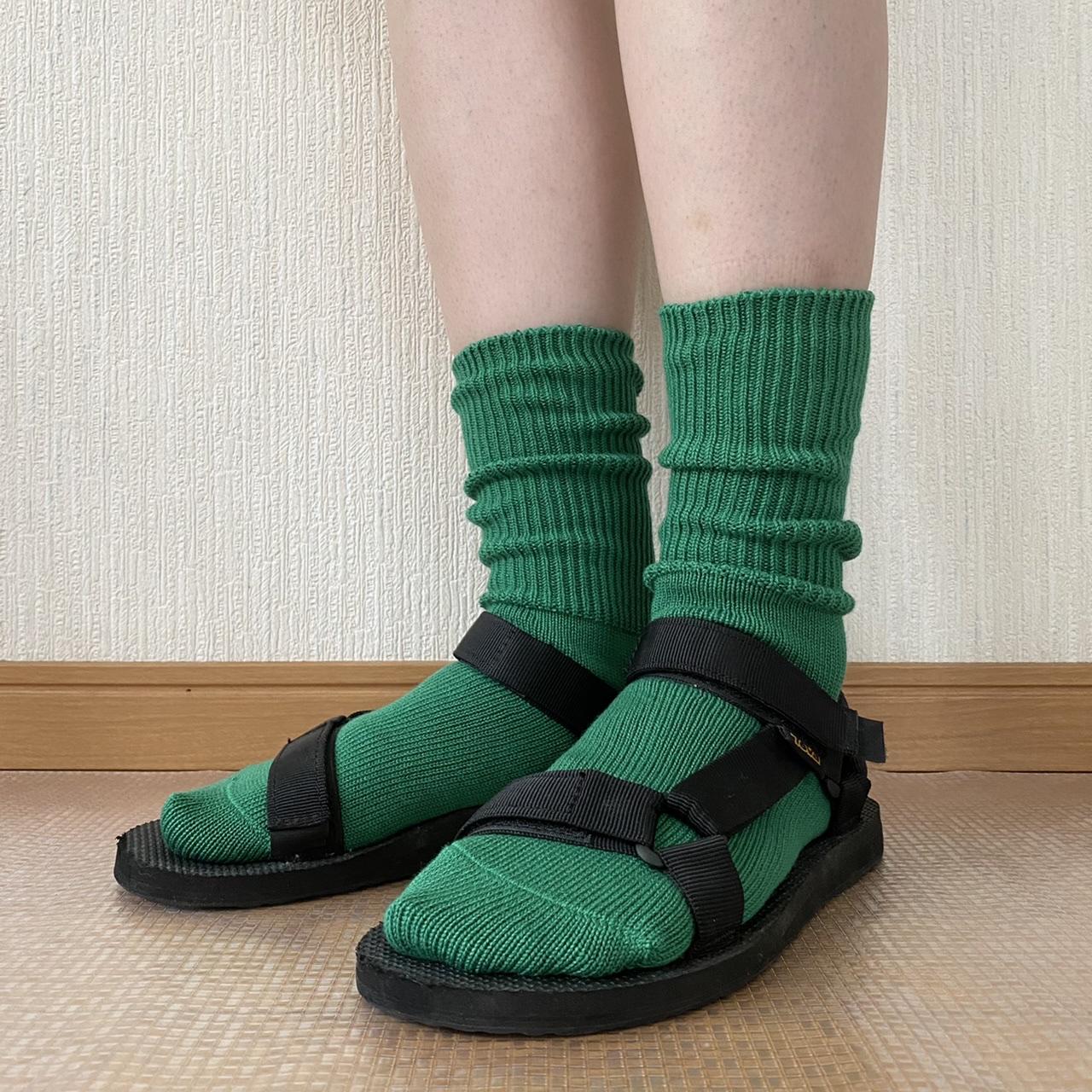 スポサン×カラフルくしゅくしゅ靴下