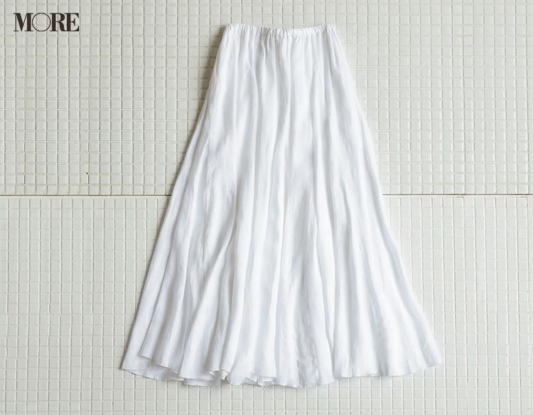 """洗えるプリーツスカートやカップつきキャミも♡ モアスタッフがお気に入りの""""白""""アイテムをレコメンド!_6"""