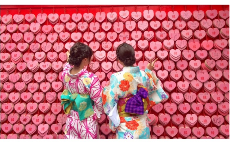 【TRIP】愛知県犬山市♡! #ハートの絵馬 が可愛いすぎ♡縁結び、恋愛成就の三光稲荷神社⋈_1