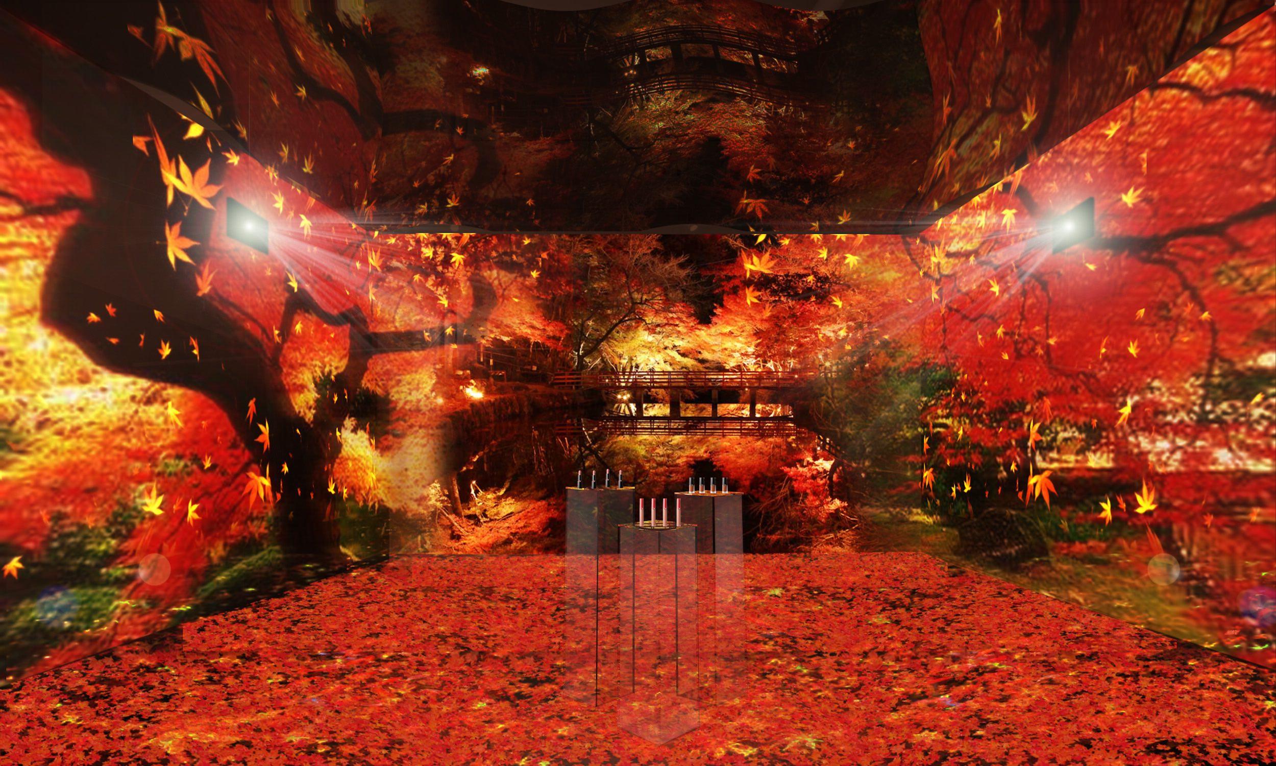 ポップアップストア「アルマーニビューティ KOYO」が神宮前に2日間限定オープン♪ 新感覚の紅葉と秋メイクを体験 _3