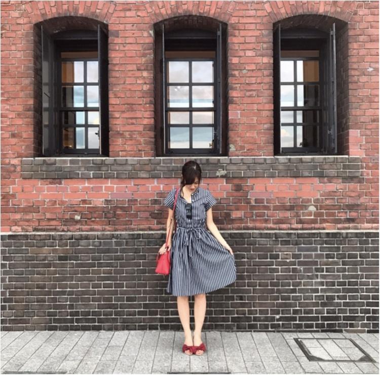 【Fashion】これ1枚でどこへでも♡ストライプシャツワンピコーデ♡_3