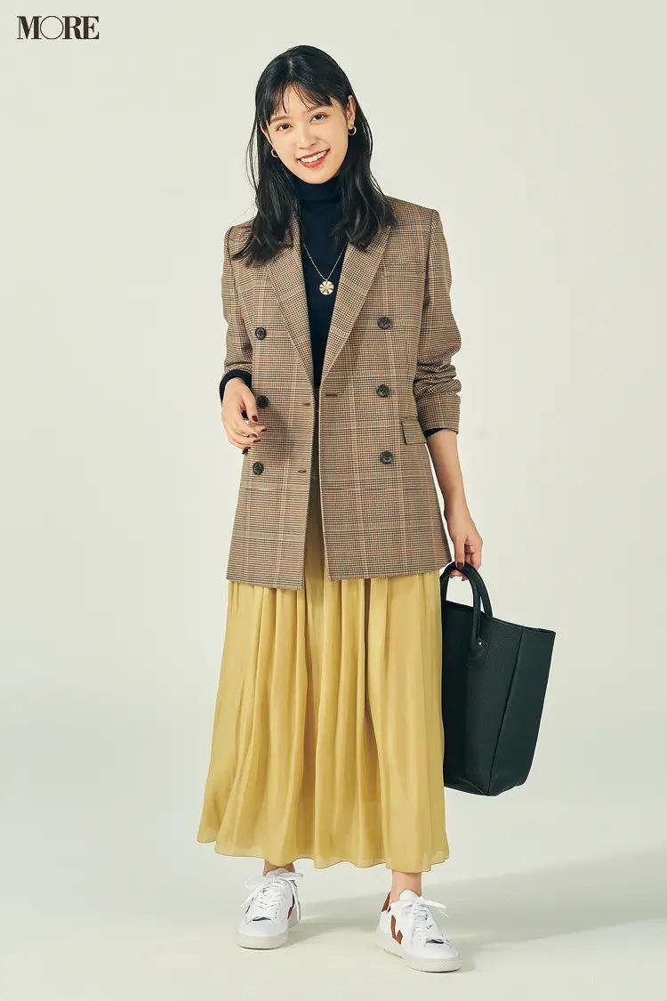 【冬のスニーカーコーデ】スニーカー通勤の日はジャケットできちんとさを