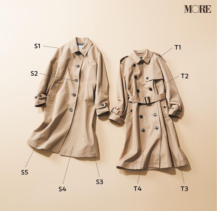 フレンチシックなお仕事コーデにおすすめなステンカラーコートとトレンチコート