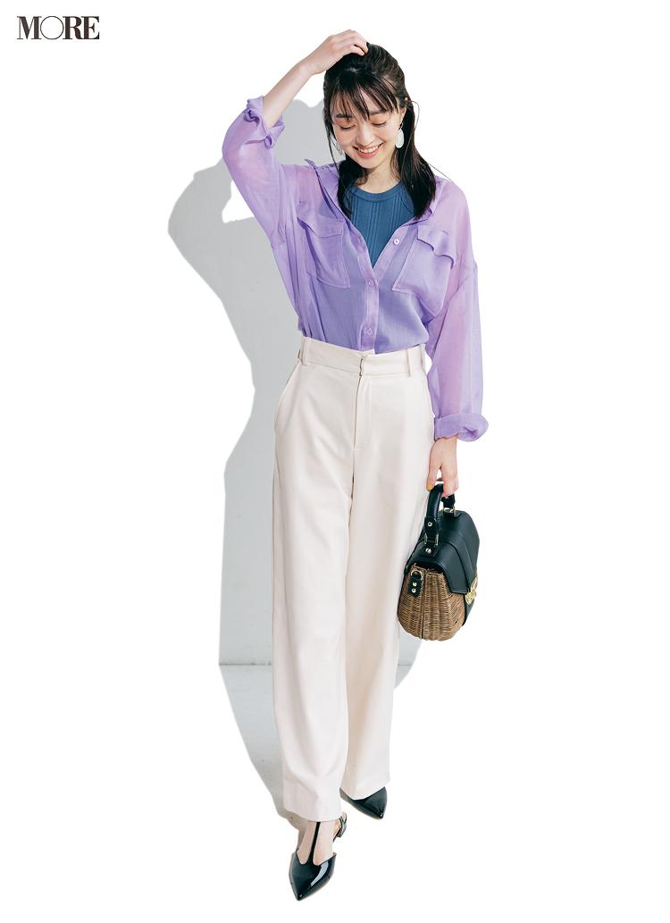 「コーデの50%を白にする」とおしゃれに見える。シャツ、パンツ、Tシャツで白を上手に取り入れてみて_2
