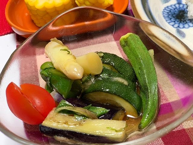 【我が家の定番!夏野菜の揚げ浸し!】市場でお野菜を買ったよ♡_6