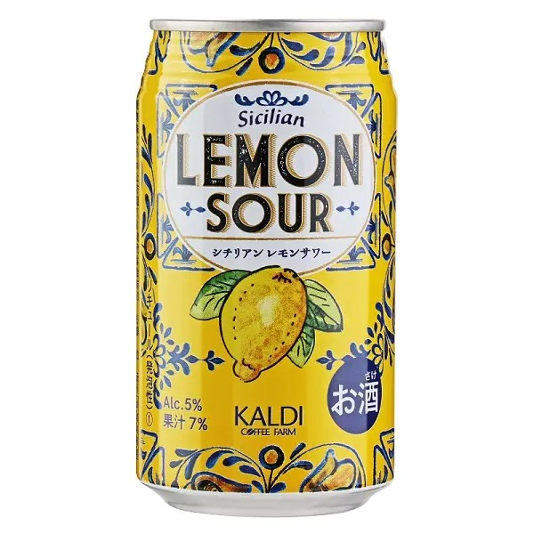 《カルディ》おすすめのレモンドリンク3.「オリジナル シチリアンレモンサワー」