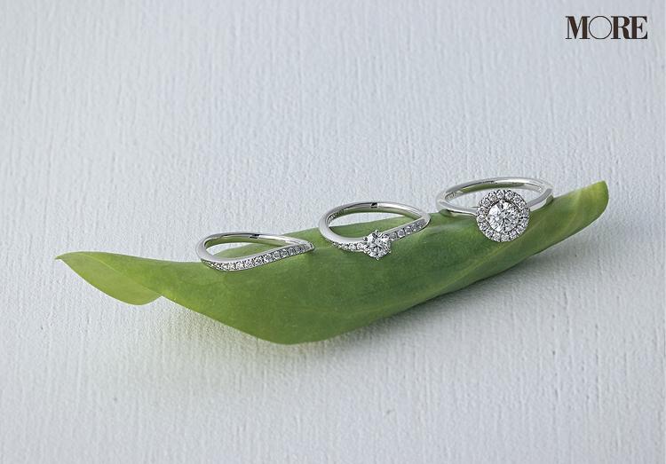 フォーエバーマークのダイヤモンドが美しいエンゲージメントリング