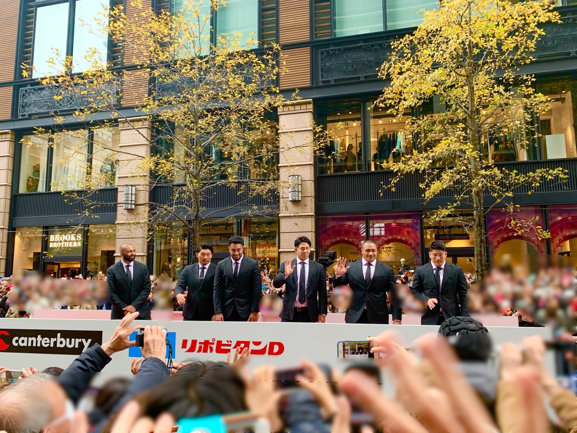 《ONE TEAMが集結❤️》【ラグビー日本代表 感謝パレード】を観に行ってきました!☻_1