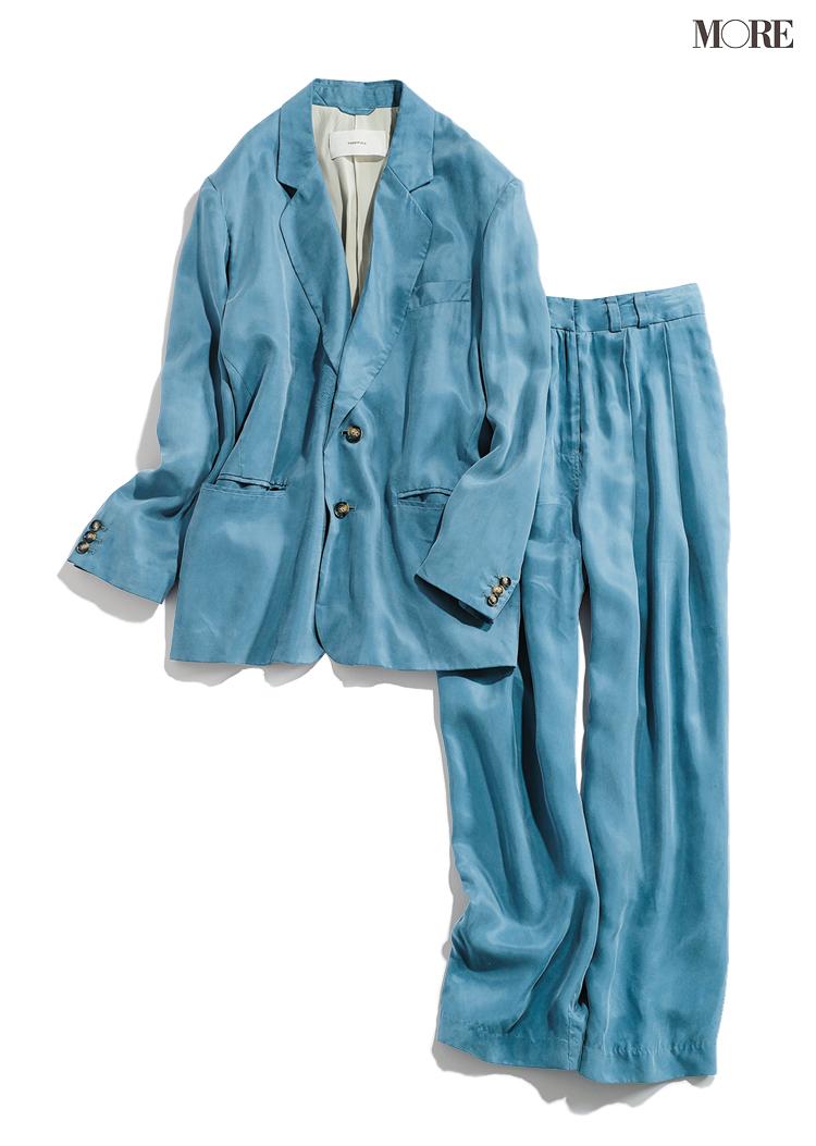 パンツ派さんには『トゥデイフル』のジャケット+パンツのセットアップ! オンオフ着回してみた_2